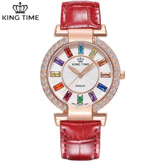 [HCM]Đồng hồ nữ KING TIME INZEE Đính Đá Ruby Cầu Vòng Mặt to nổi bật Chống nước sinh hoạt - Đồng hồ nữ thời trang Đồng hồ nữ thể thao Đồng hồ nữ kính sapphire ĐẹpSang trọngĐẳng cấp Bền Giá Sốc Đồng hồ nữ thumbnail
