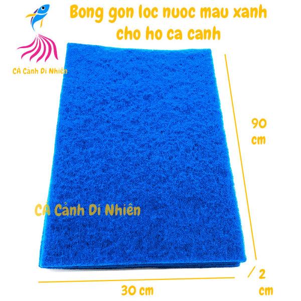 Bông gòn lọc nước màu XANH cho hồ cá cánh size 90x30x2 cm