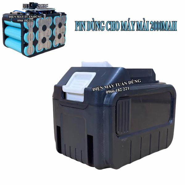 Pin 15 cell xanh lisen CHUYÊN DÙNG CHO MÁY MÀI GÓC, MÁY KHOAN ĐỤC BÊ TÔNG chân pin Makita 4 cm phổ thông Dung lượng 30000Mah