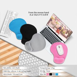 Miếng lót chuột silicon mút đệm cao su êm đàn hồi nâng cổ tay chống mỏi chống trượt khi chơi game Phặn Phặn thumbnail