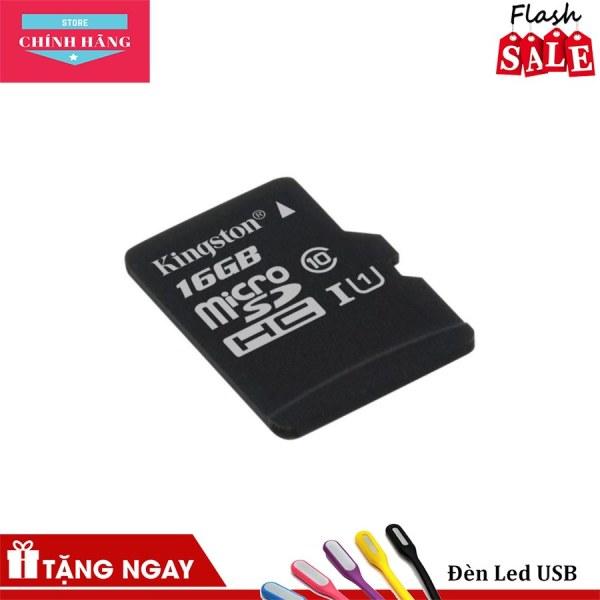 Thẻ nhớ micro SDHC Kingston 16GB class 10 - Bảo Hành 3 Năm