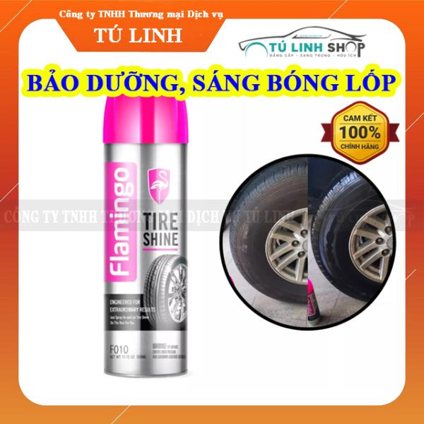 Bình xịt phục hồi và làm sáng bóng lốp xe Flamingo Tire shine (F010) 500ml