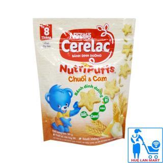 Bánh Ăn Dặm Dinh Dưỡng Nestlé Cerelac Nutripuffs Hương Vị Chuối & Cam Gói 50g (Dành cho trẻ từ 8 tháng tuổi) thumbnail