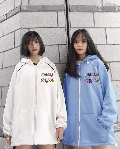 [FREESHIP TOÀN QUỐC] Áo khoác nam nữ form rộng hàn quốc, áo khoác hoodie nam nữ có dây kéo Chili
