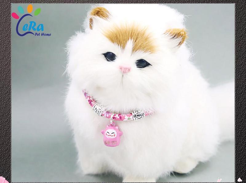 Vòng Cổ Chó Mèo Mặt Mèo - Vòng Cổ 015 (Giao Màu Ngẫu Nhiên)