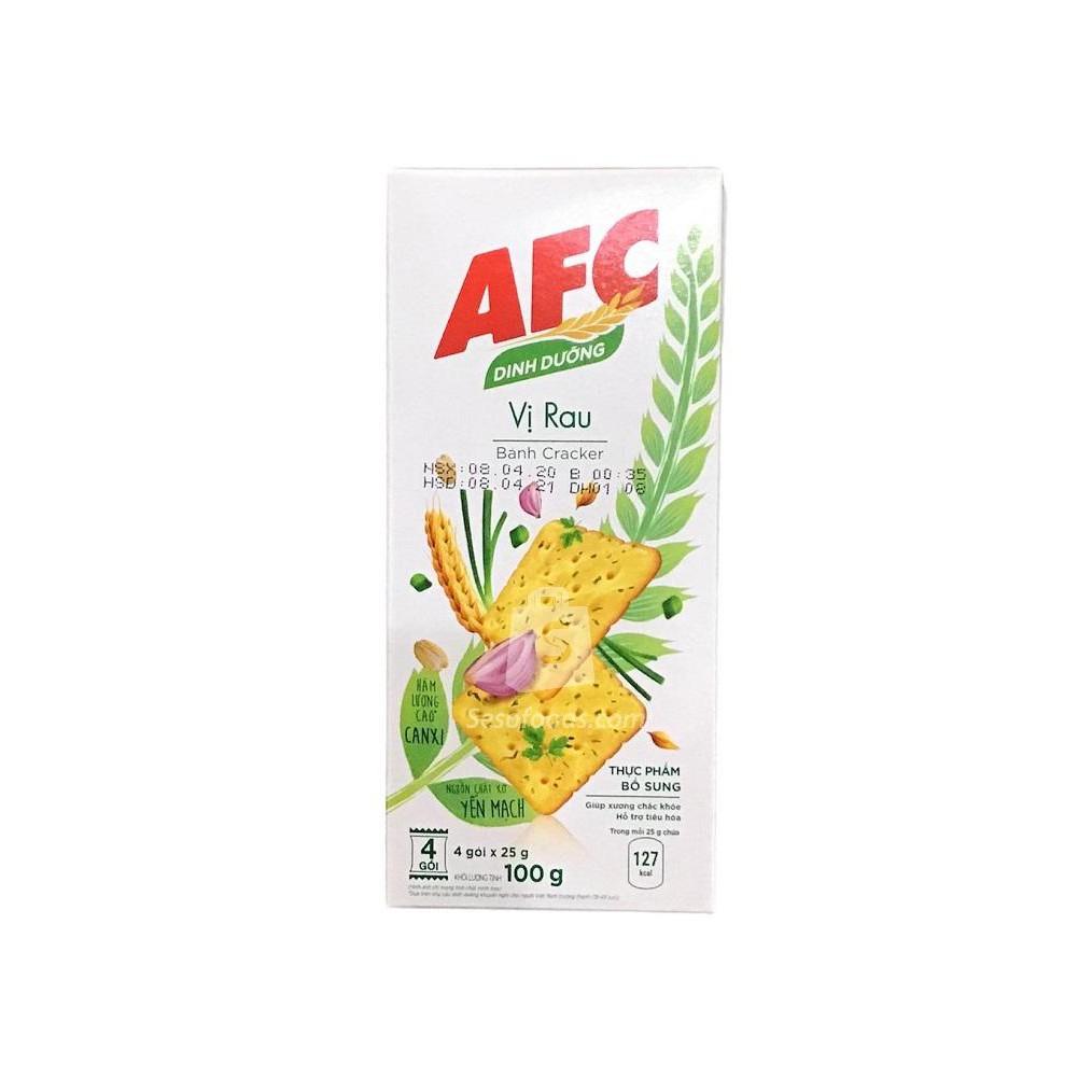 Bánh Kinh Đô Afc Dinh Dưỡng Vị Rau Cải Hộp 100G