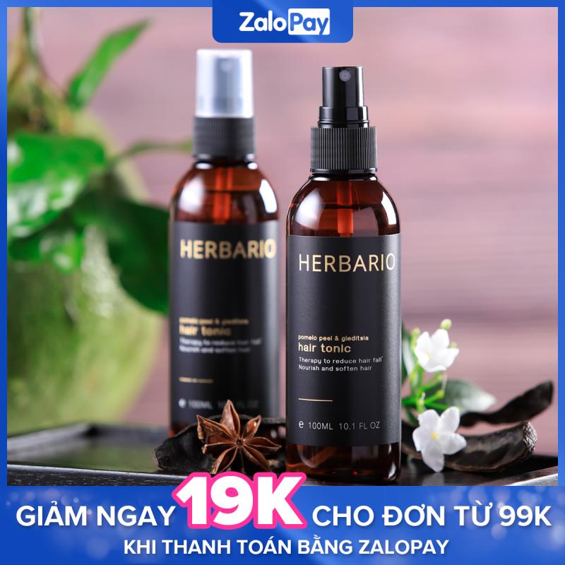 Nước dưỡng tóc Vỏ Bưởi và Bồ Kết Herbario 100ml ngăn rụng tóc, giúp tóc mọc nhanh hơn