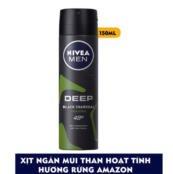 Xịt Ngăn Mùi Nivea Than Đen Hương Rừng Amazon  (150ml) cao cấp