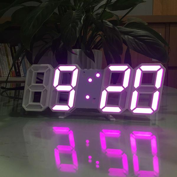 Nơi bán Đồng hồ treo tường led, đồng hồ led treo tường, đồng hồ 3D led, đồng hồ led DH092