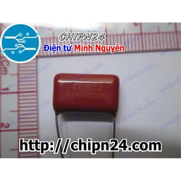 [5 CON] Tụ CBB 400V 474J 15mm (0.47uF)