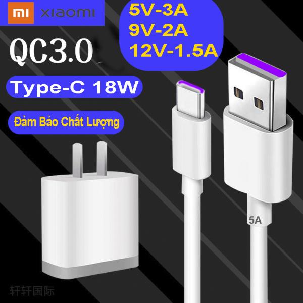 Bộ sạc Nhanh 18W Xiaomi Redmi 8A, Redmi 8, Redmi 9, Mi A3, Note 7, Note 9, Note 8pro, Note 9S, Note