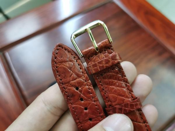 Dây da đồng hồ - dây da cá sấu thật Handmade cao cấp đủ size (3 màu) - TẶNG KÈM TOOL THAY DÂY và Khoá bán chạy