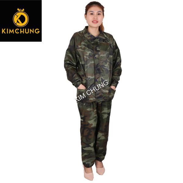 Áo mưa bộ vải dù Rằn Ri cao cấp, áo mưa bộ siêu bền (Size 2XL từ 1m5-1m63)