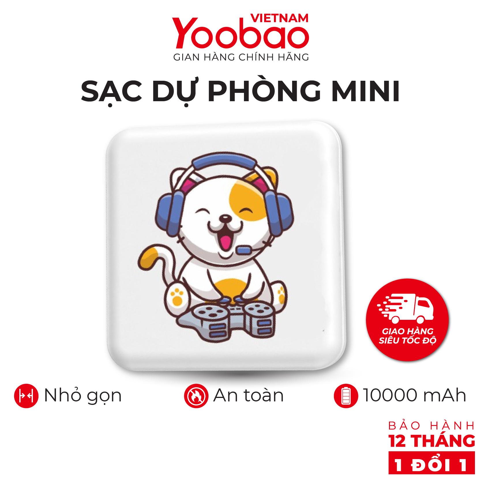 Sạc dự phòng Yoobao M4 mini dễ thương hài hước 10000mAh Pin Li-Polymer cho điện thoại máy tính bảng... - Hàng phân phối chính hãng - Bảo hành 12 tháng 1 đổi 1