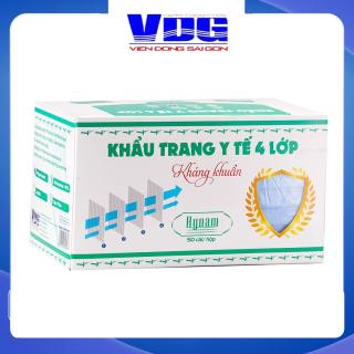 Khẩu trang y tế 4 lớp Hynam - Giấy lọc kháng khuẩn - (50 cái hộp) - Màu xanh thumbnail