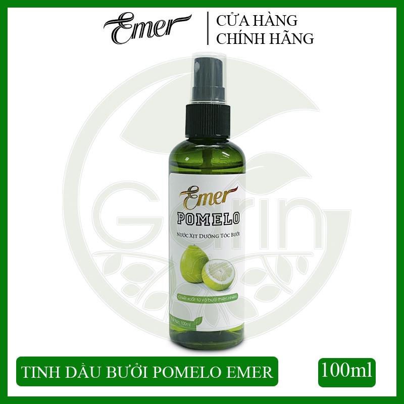 Nước xịt dưỡng tóc tinh dầu bưởi Pomelo Emer 100ml giúp giảm rụng tóc, kích thích tóc mọc nhanh, cung cấp dưỡng chất cho tóc luôn chắc khỏe và suôn mượt tự nhiên