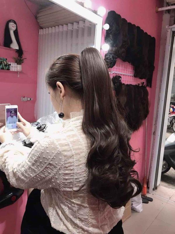 Tóc giả - Cột tóc ngoặm xoăn & thẳng giá rẻ