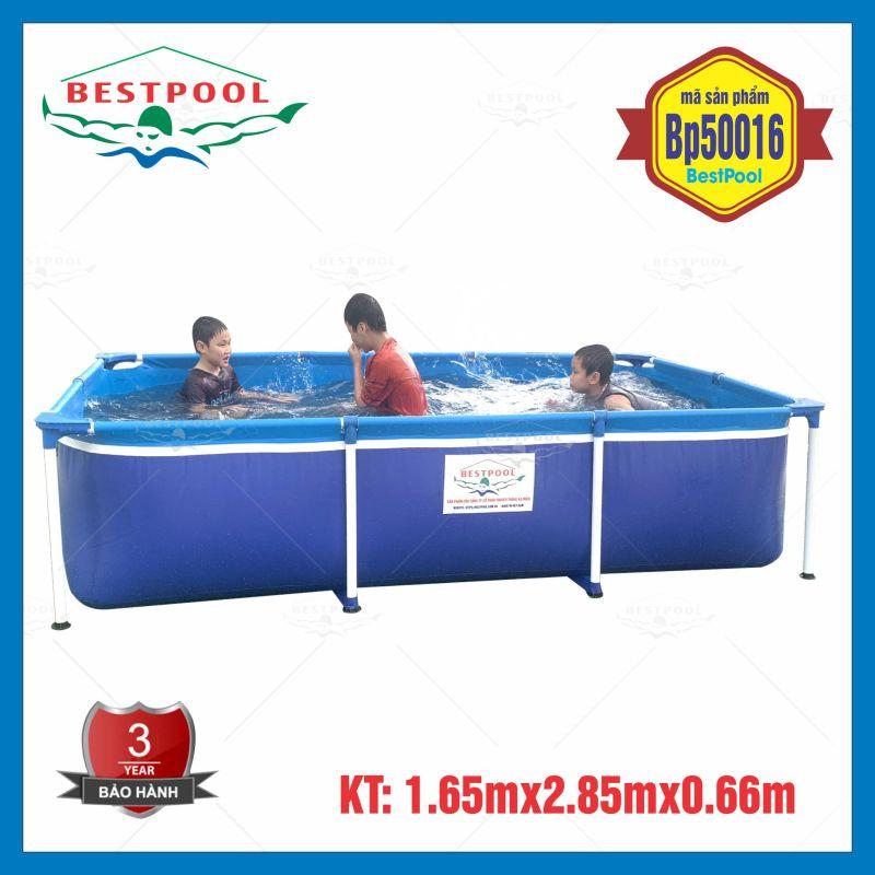 Bể bơi mini trong nhà BestPool 1.65m x 2.85m x 0.66m, bể bơi cho bé, bể bơi khung kim loại, bể bơi lắp ghép