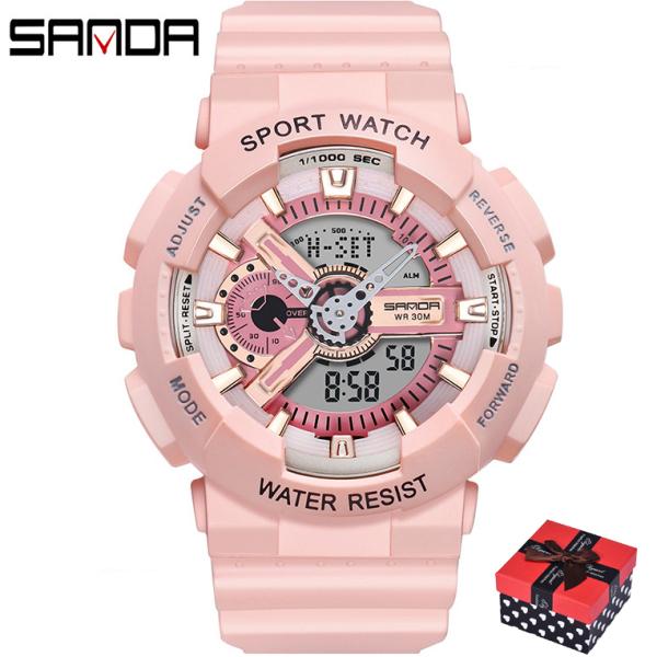 Đồng hồ Nữ thể thao SANDA IRIS, Chạy 2 Máy Cao Cấp Của Nhật, Chống Nước Rất Tốt - Đồng hồ nữ cao cấp, Đẹp,Sang trọng,Đẳng cấp, Bền, Giá Sốc, Đồng hồ nữ hàn quốc, Đồng hồ nữ giá rẻ, Đồng hồ nữ thể thao bán chạy