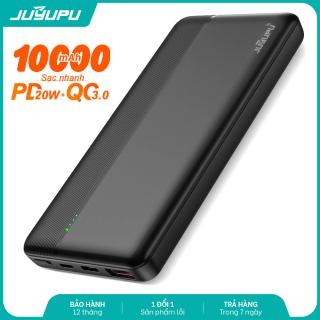 [HCM]Sạc dự phòng JUYUPU PQ1C sạc nhanh cao cấp 10000mAh PD QC3.0 20W chính hãng dành cho iPhone Samsung OPPO VIVO HUAWEI XIAOMI pin sạc dự phòng thumbnail
