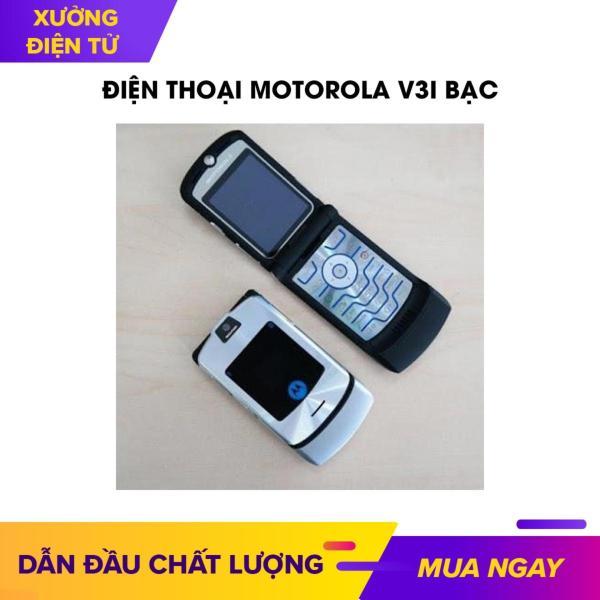 Điện thoại Motorola V3i bạc giá rẻ nắp gập kèm theo (pin+sạc)