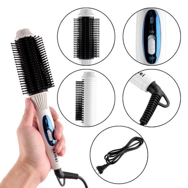 Lược điện sấy tóc cúp kemei KM 8110 cao cấp