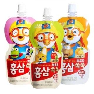 NƯỚC HỒNG SÂM 6 NĂM TUỔI CHO BÉ PORORO - Hàn Quốc thumbnail