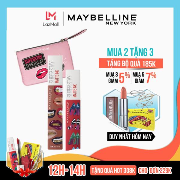 [BỘ SON] Son kem lì 16h lâu trôi Maybelline New York Super Stay Matte Ink - Phiên bản giới hạn giá rẻ