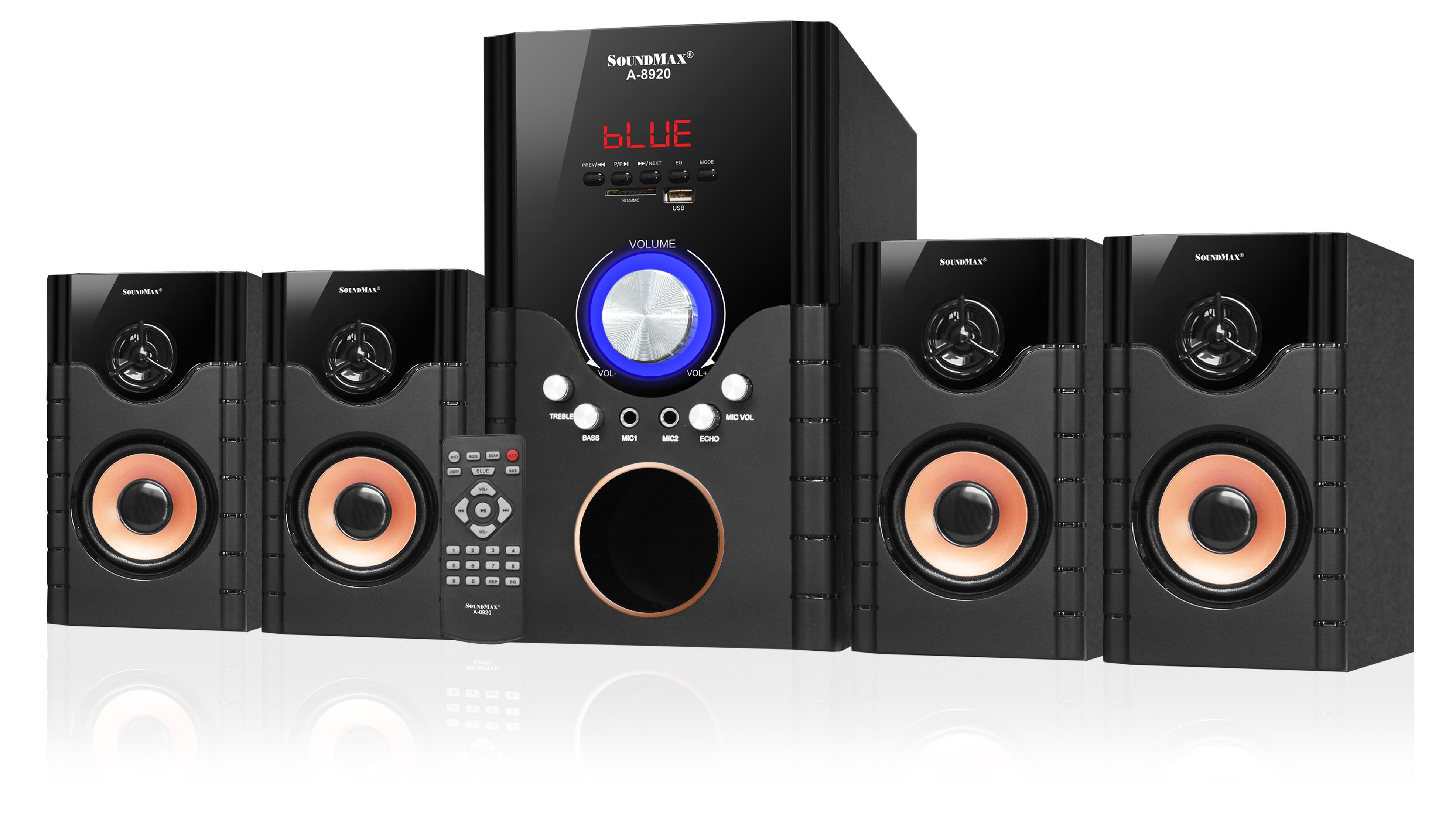 [Mẫu Siêu Hót 2021] loa Soundmax A8920, Loa Vi Tính Bluetooth Giá Rẻ Loa Mini Để Bàn Cao Cấp Loa Xách Tay,  Công Suất 70w Hỗ Trợ Usb Thẻ Tf, Loa 4.1, Giúp Âm Bass Uy Lực Kèm 4 Loa Vệ Tinh Âm Thanh Mạnh Mẽ Trong Sáng Nghe Rât Đã Bh 12 Th