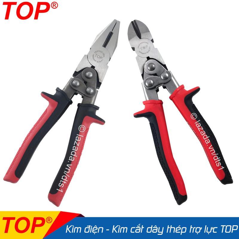 Bộ Kìm điện - Kìm cắt trợ lực cắt dây thép chuyên nghiệp TOP 8inch/200mm