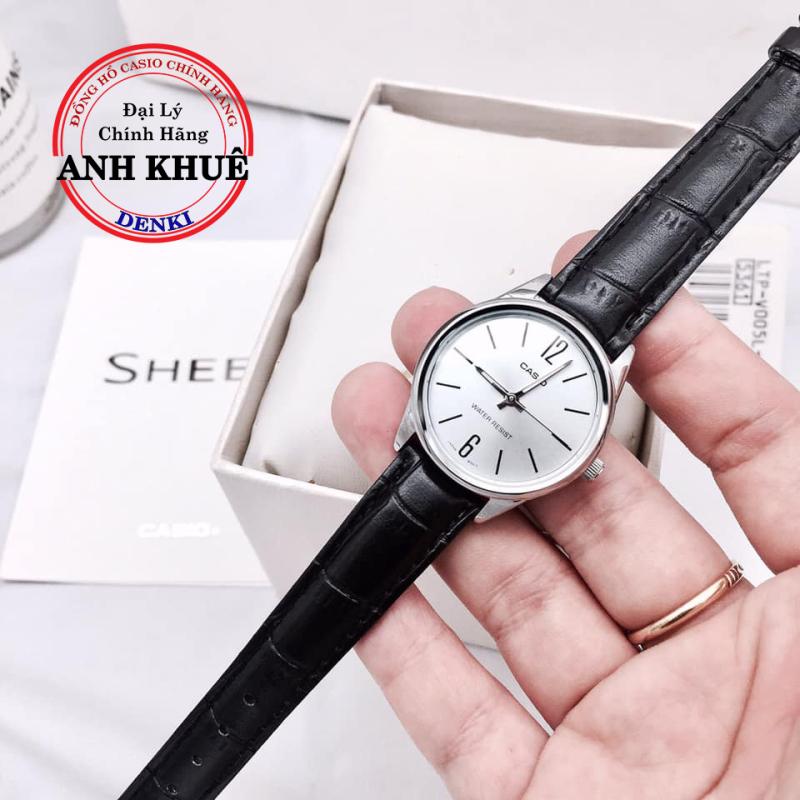 Đồng hồ nữ dây da Casio Standard chính hãng Anh Khuê LTP-V005L-7BUDF