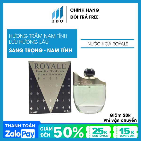 Nước hoa nam cao cấp ROYALE GREEN 75ml, phân phối chính hãng bởi 3DO, nước hoa nam vương, mùi hương cô đặc thơm lâu , quý phái, lịch lãm.