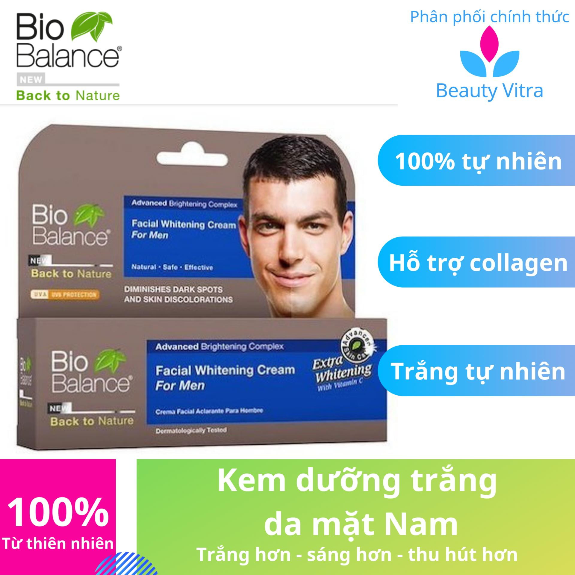 Kem dưỡng trắng da mặt Nam - Biobalance, Mỹ phẩm dành cho nam giới, sáng da mặt, dưỡng da cho bạn gái thêm yêu tốt nhất
