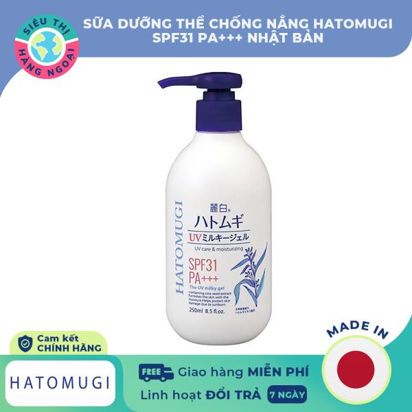 [CHÍNH HÃNG] Sữa dưỡng thể chống nắng Hatomugi SPF31 PA+++ [giúp chống lại tác hại của tia UV, ngăn ngừa nám, tàn nhang; da trắng sáng, giảm thâm sạm, đều màu da] Hàng Nhật Bản (được bán bởi Siêu Thị Hàng Ngoại) giá rẻ