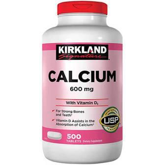 Viên uống Canxi Kirkland Calcium 600mg + D3 ( Xuất xứ Mỹ)