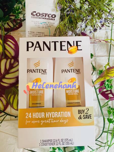 [Bill US] SET Dầu Gội Xả Pantene Pro-V Daisy Moisture Renewal 375ml (Vàng) giá rẻ