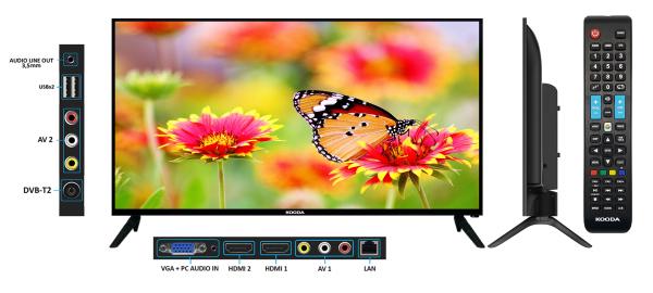 Bảng giá Smart TV Kooda 32inch - K32S6 (Android 8.0) - Tặng kèm Remote thông minh