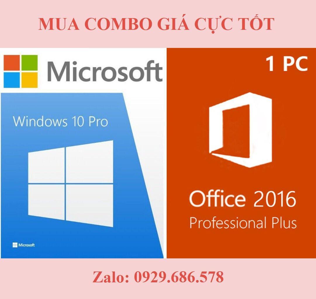 (Combo) Windows 10 Pro và Office 2016 Proplus - Key kích hoạt