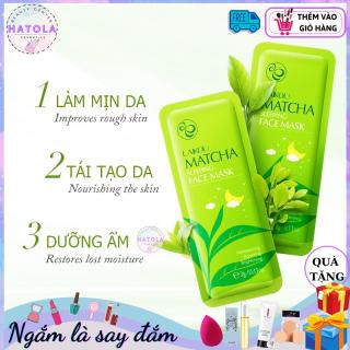Mặt nạ ngủ Matcha dưỡng da COMBO 4 GÓI chuyên sâu, dưỡng ẩm, làm mềm mịn da, hỗ trợ giảm thâm mụn mặt nạ dạng gói tiện lợi dễ dàng sử dụng (1 gói 3g) -MNN thumbnail
