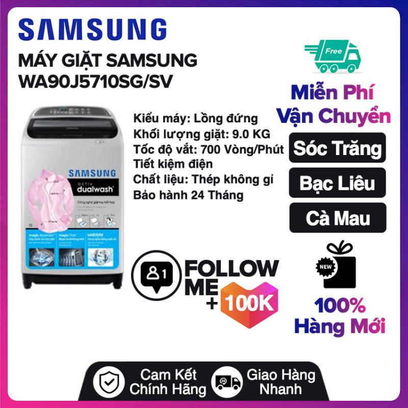 Bảng giá Máy giặt Samsung 9 kg WA90J5710SG/SV Miễn phí vận chuyển nội thành Sóc Trăng, Bạc Liêu, Cà Mau Điện máy Pico