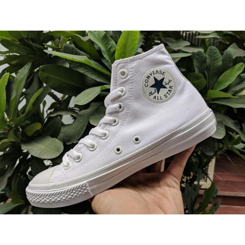 Giày Conversse Chuck 2 cổ cao màu Trắng full (All White), Size 43 (giá tốt)