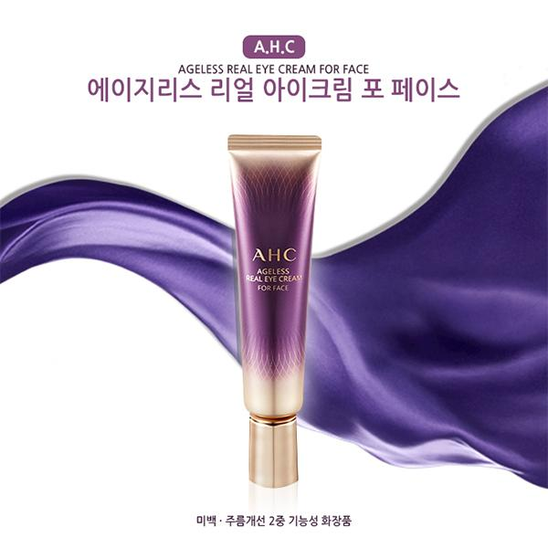 Kem Chống Nhăn Trị Thâm Chống Lão Hóa Mắt AHC Ageless Real Eye Cream For Face 12ML