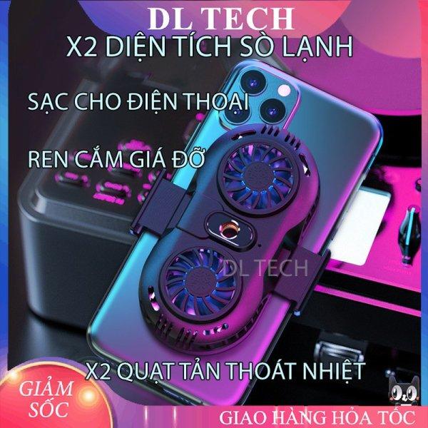 Quạt tản nhiệt điện thoại 2 quạt sò nóng lạnh memo AH102 Gaming giá rẻ DL TECH