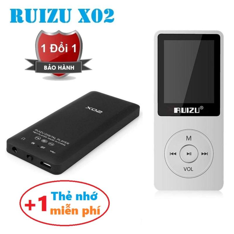 Máy nghe nhạc mp3 Ruizu X02 bộ nhớ trong 8G hỗ trợ thẻ nhớ lên đến 64G cao cấp