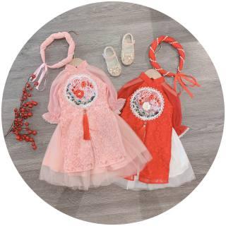 Áo dài cách tân Song Ngư tuyệt phẩm cho bé gái mùa tết, áo dài cách tân cho bé gái