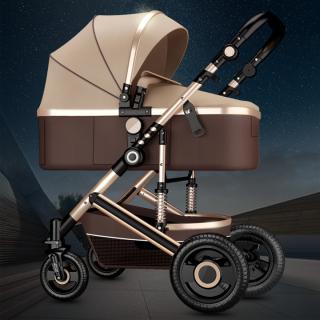 Xe Đẩy Em Bé, Xe đẩy em bé gấp gọn có giảm sóc, Nôi em bé, Xe đẩy 2 chiều 3 tư thế cao cấp, Dễ dàng gấp gọn đi đâu cũng được, HONA SMART thumbnail