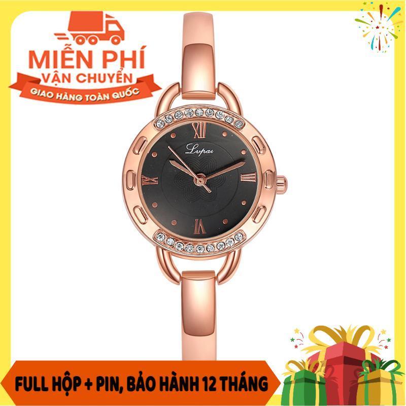 Nơi bán Đồng hồ nữ sang trọng LVPAI10 thiết kế mặt tròn viền đính đá kết hợp dây kim loại trơn - Đồng hồ - Đồng hồ nữ - Đồng hồ nam nữ - Đồng hồ đẹp - Đồng hồ nữ đẹp