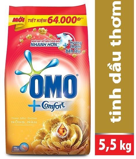 Bột Giặt Omo Tinh Dầu Thơm Comfort 5,5kg Giá Sốc Nên Mua