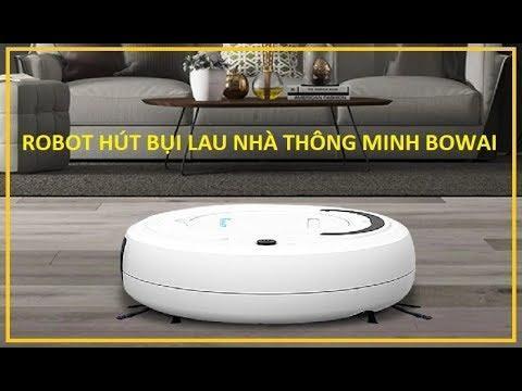 Rô bốt hút bụi thông minh, Robot lau nhà quét nhà hút bụi tự động chỉ với 1 nút ấn, Ro bot hut bui thong minh, Robot lau nha quet nha hut bui tu dong chi voi 1 nut an