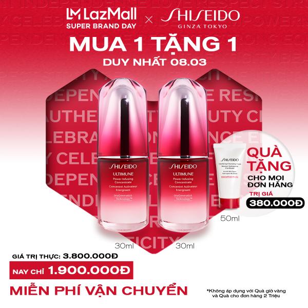 [Mở bán từ 0h ngày 8/3 - MUA 1 TẶNG 1 FULLSIZE]  Tinh chất dưỡng da Shiseido Ultimune Power Infusing Concentrate N 30ml - Duy nhất 1 ngày 8.3